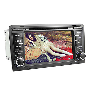 7-inch 2 Din TFT Screen In-Dash Car DVD Player For Audi A3 (2003-2011) With Bluetooth,Navigation-Ready GPS,RDS,3G(WCDMA),Wi-Fi,Canbus,TV