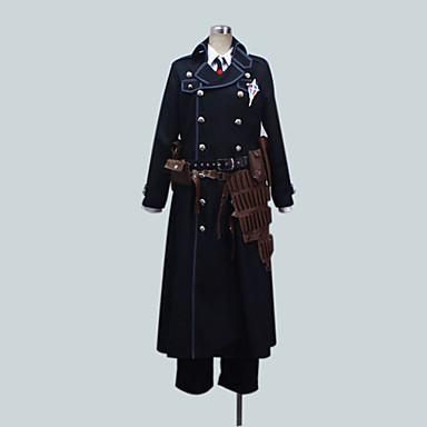 קיבל השראה מ Blue Exorcist Yukio Okumura אנימה תחפושות קוספליי חליפות קוספליי אחיד שרוול ארוך מעיל חולצה מכנסיים עבור זכר