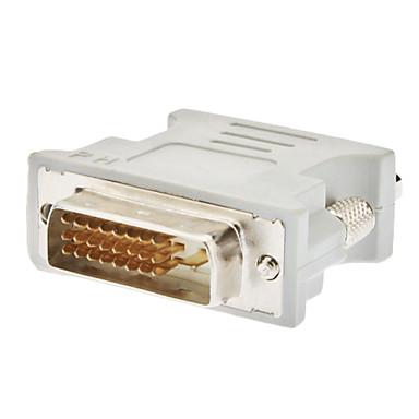 DVI 24 + 1 Erkek Uçlu ve VGA Dişi Adaptör Beyaz
