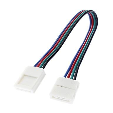 5050 smd renkli awg22 ışık led şerit bilateral lamba bağlantısı (12v-24v)