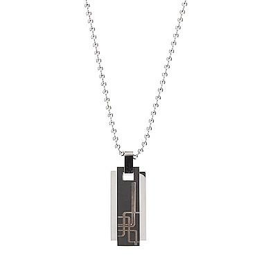 Muškarci Ogrlice s privjeskom Titanium Steel Legura Moda Srebro Silver-Black Jewelry Dnevno Božićni pokloni