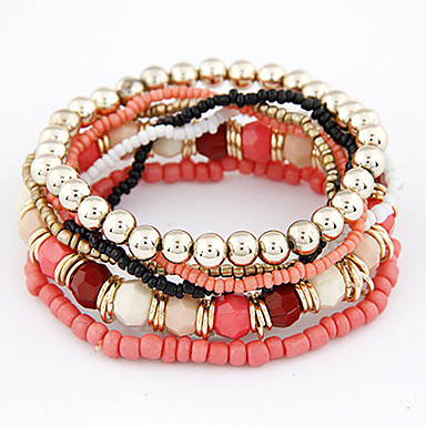 Women's Bohemian Style Multi-row Beaded Bracelet(Assorted Colors) Jewelry Christmas Gifts