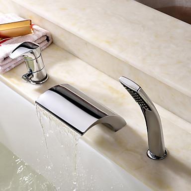 Badewannenarmaturen - Moderne Chrom Romanische Wanne Keramisches Ventil
