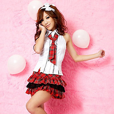 Student / School Uniform Cosplay Costume Party Costume Women's Halloween Carnival Festival / Holiday Halloween Costumes Red/White