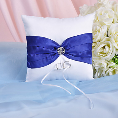 Štras / Mašnica Saten ring pillow Vrt Tema Proljeće / Ljeto / Jesen