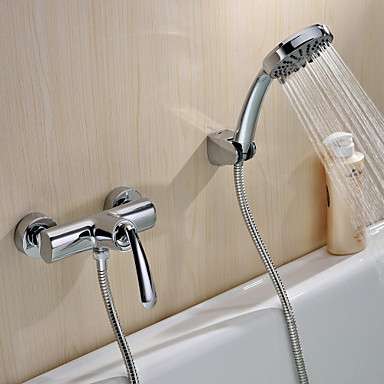 Sprchové baterie Sprinkle®  ,  Moderní  with  Pochromovaný Jeden kohoutek S dvěma otvory  ,  vlastnost  for Nástěnná montáž