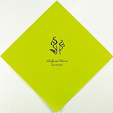100% jomfru papirmasse Bryllup Servietter-100 Piece / Set Frokost Servietter