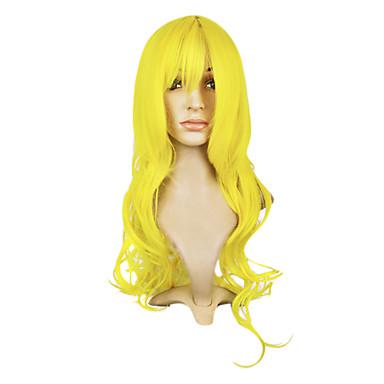 billige Kostymeparykk-Syntetiske parykker Bølget Stil Lokkløs Parykk Syntetisk hår 28 tommers Dame Parykk