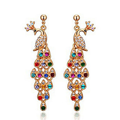 Delicate Alloy With Rhinestone Women's Earrings Classical Feminine Style