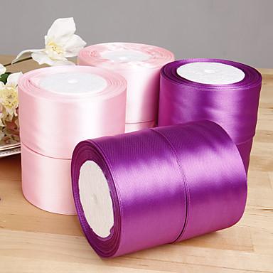 abordables Rubans de Mariage-Couleur unie Organza Rubans de mariage - 1 Pièce / Set Ruban en organza Décorer le porte cadeau Décorer la boîte à cadeau Décorer la