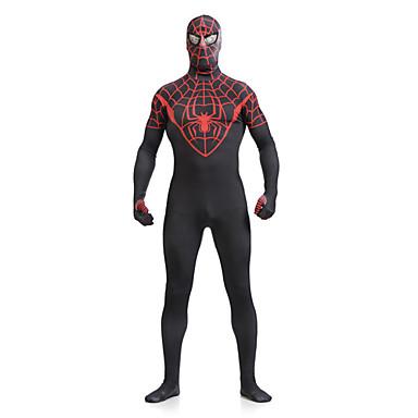 Zentai kombinézy Morphsuit Superhrdina Pavouci Filmové a TV kostýmy Zentai Cosplay kostýmy Černá Tisk PatchworkLeotard/Kostýmový overal