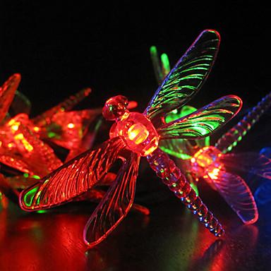 solar lumini de gradina 30 multicolor dragonfly a condus lumini solare