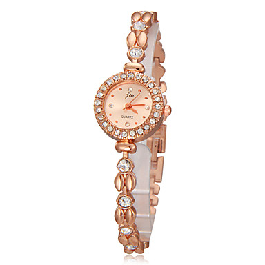Damen Quartz Armband-Uhr Imitation Diamant Band Zeichentrick Elegant Modisch Gold