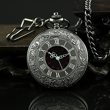 cheap Pocket Watches-Men's Pocket Watch Quartz Black Casual Watch Analog Vintage Aristo - Black One Year Battery Life / SSUO 377