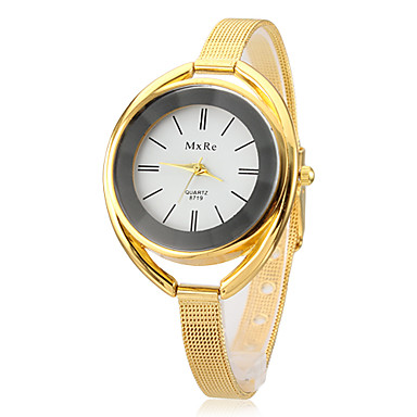 Pentru femei Ceas La Modă Ceas Brățară Quartz Aliaj Bandă Elegant Argint Auriu