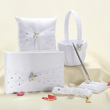 Garden Theme Floral Theme Fairytale Theme Collection Set With Faux Pearl Rhinestones Sash Satin