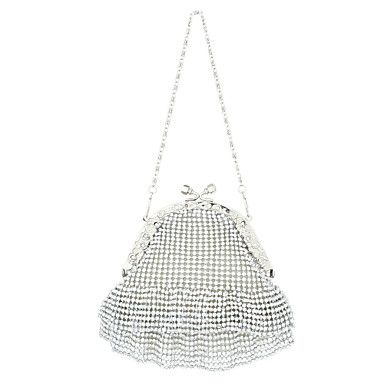 Unique Satin With Rhinestone Wedding/Special Occasion Evening Bag/Clutches