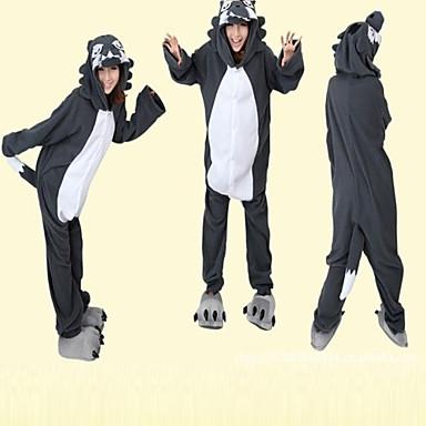 Мужская Хитрость Серый Волк флиса Kigurumi пижамы 840642 2019 –  29.99 b1633d61ed12c