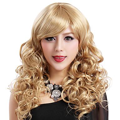 Synthetische Perücken Damen Karnevalsperücke Halloween Perücke Schwarze Perücke Synthetische Haare