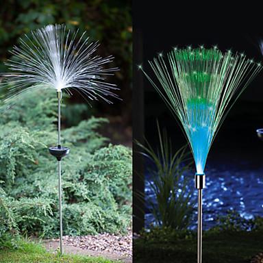 2pcs Gartenleuchte / Leuchte für Rasenplatz 1 LED-Perlen Hochleistungs - LED Dekorativ Mehrfarbig