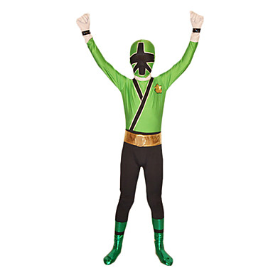 Zentai Dragt Morphsuit Superhelte Soldat/Kriger Spandex Heldragt Cosplay Kostumer Patchwork Trikot/Heldragtskostumer Zentai Spandex Lycra