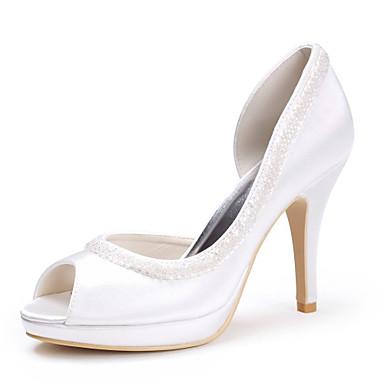 topp kvalitet sateng øvre stiletto hæl peep toe med sequin bryllup brude shoes.more tilgjengelige farger