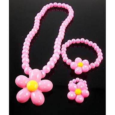 Fete Seturi de bijuterii Petrecere Perle Reșină Floare Floarea Soarelui 1 Colier 1 Brățară 1 Inel