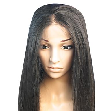 Păr Virgin Integral din Dantelă Perucă Păr Chinezesc Drept Frizură Asimetrică Densitate Pentru femei Scurt / Lung / Lungime medie Peruci Păr Uman