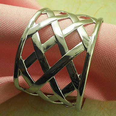 Metal Kreisförmig Servietten Ring Mit Mustern Umweltfreundlich Tischdekorationen