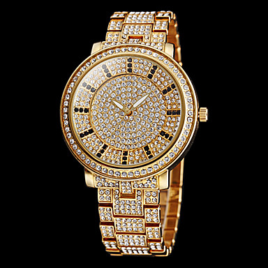 cheap Women's Watches-Women's Pave Watch Gold Watch Quartz Stainless Steel Silver / Gold Imitation Diamond Analog Sparkle Fashion Dress Watch - Gold Silver Two Years Battery Life / Maxell626