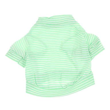 Hund T-shirt Hundekleidung Streifen Grün Baumwolle Kostüm Für Haustiere