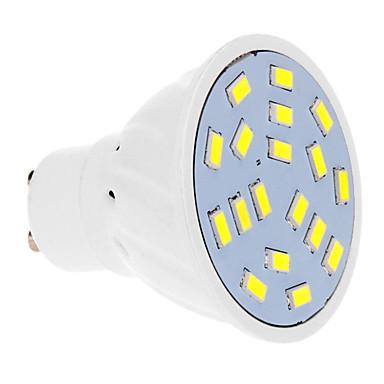 GU10 LED bodovky 18 lED diody SMD 5630 Chladná bílá 570lm 5500-6500K AC 220-240V