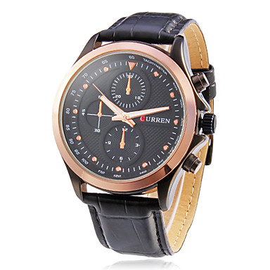 CURREN® Men's Round Dial Leather Band Quartz Analog Wrist Watch (Assorted Colors) Cool Watch Unique Watch