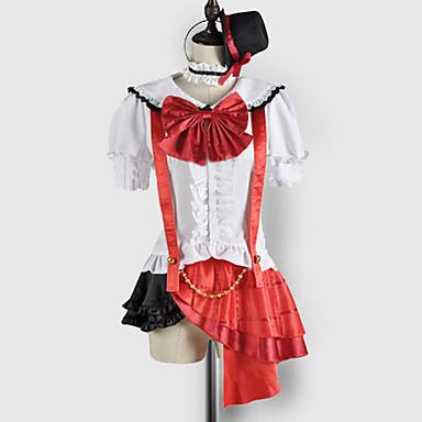 Inspirovaný Love Live Maki Nishikino Video Hra Cosplay kostýmy Cosplay šaty / Školní uniformy Patchwork Krátký rukáv Vrchní deska / Sukně