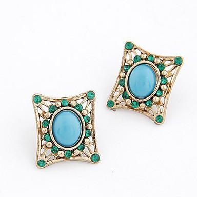 Dame Cercei Stud bijuterii de lux European Pietre sintetice Aliaj Circle Shape Geometric Shape Bijuterii Pentru