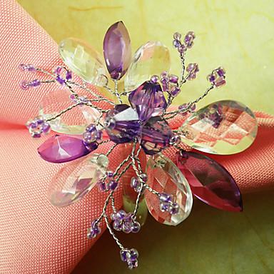 50% Acryl / 50% Polyester Blume Servietten Ring Umweltfreundlich Tischdekorationen