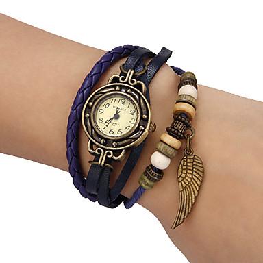 Dámské Módní hodinky Náramkové hodinky Křemenný PU Kapela Vintage Cikánské Černá Modrá Červená Orange Zelená