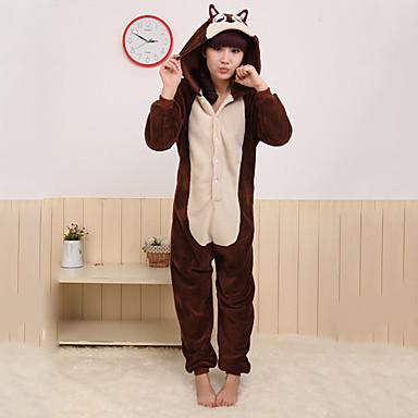 Pijama Kigurumi Veveriță / Mouse Pijama Întreagă Costume Coral Fleece Cosplay Pentru Adulți Sleepwear Pentru Animale Desen animat