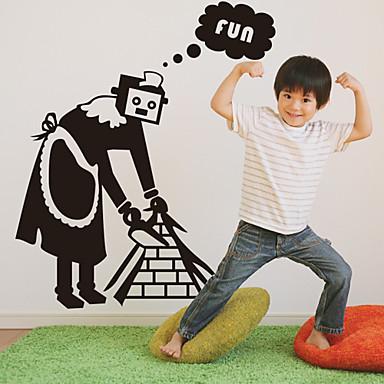 cameriera robot adesivi murali (1985-D25)
