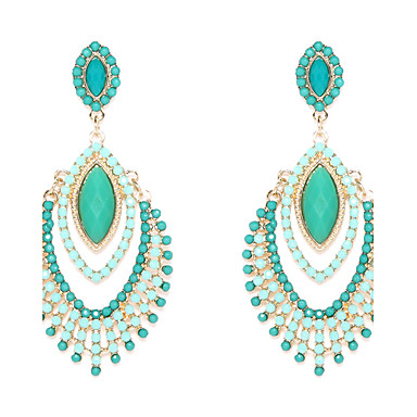 Women's Drop Earrings Luxury Costume Jewelry Resin Imitation Diamond Alloy Jewelry For Wedding Party Daily