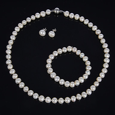 Damen Perle Schmuck-Set Ohrringe / Halsketten / Armbänder - Für Party / Besondere Anlässe / Geburtstag