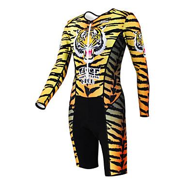 Kooplus Triatletdragt Dame Herre Unisex Langt Ærme Cykel overtræksdragter Tøjsæt Hurtigtørrende Fugtpermeabilitet Påførelig Åndbart
