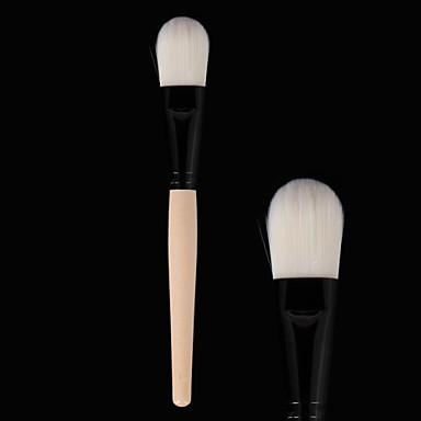 Professionel Make-up pensler Foundationbørste 1 Rejse blanding Premium fejlfri polering punktering Concealer Syntetisk Hår til Khaki Flydende Pudder