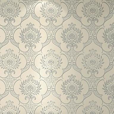 Damasc Imagine de Fundal Pentru acasă Clasic Placare a peretilor , Catifea Plușată Material Adeziv tapet , Tapetul camerei