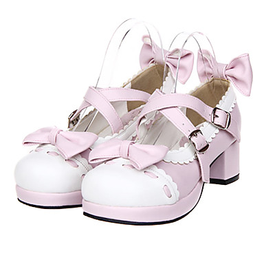 Lolita Shoes Sweet Lolita Dress Princess High Heel Shoes Bowknot 4.5 CM For PU Leather/Polyurethane Leather