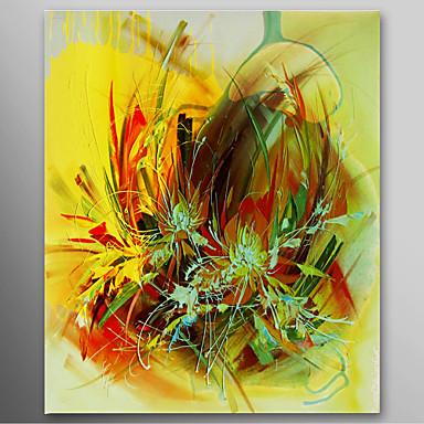 Hang-pictate pictură în ulei Pictat manual - Abstract Contemporan pânză