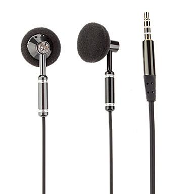 Co-Crea EV521 înaltă calitate, In-Ear căști cu microfon pentru iPhone / Samsung / PC (Negru)