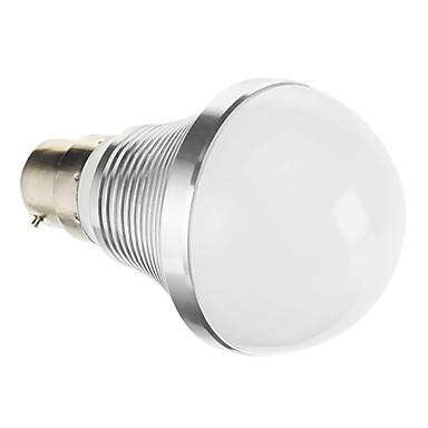 B22 7W COB 347LM 2863K teplá bílá LED žárovka Globe-Silver (95-265V)
