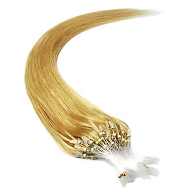 20inch 1pcs loops mikro ringer perler tippet rett hår extensions mer lys farger 100s / pake 0,5 g / s