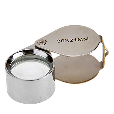 30X 30X21Mm Drop Form Foldbar Guldsmedens Øje Lup Forstørrelse Lup Mikroskop